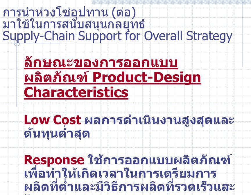 ลักษณะของการออกแบบผลิตภัณฑ์ Product-Design Characteristics