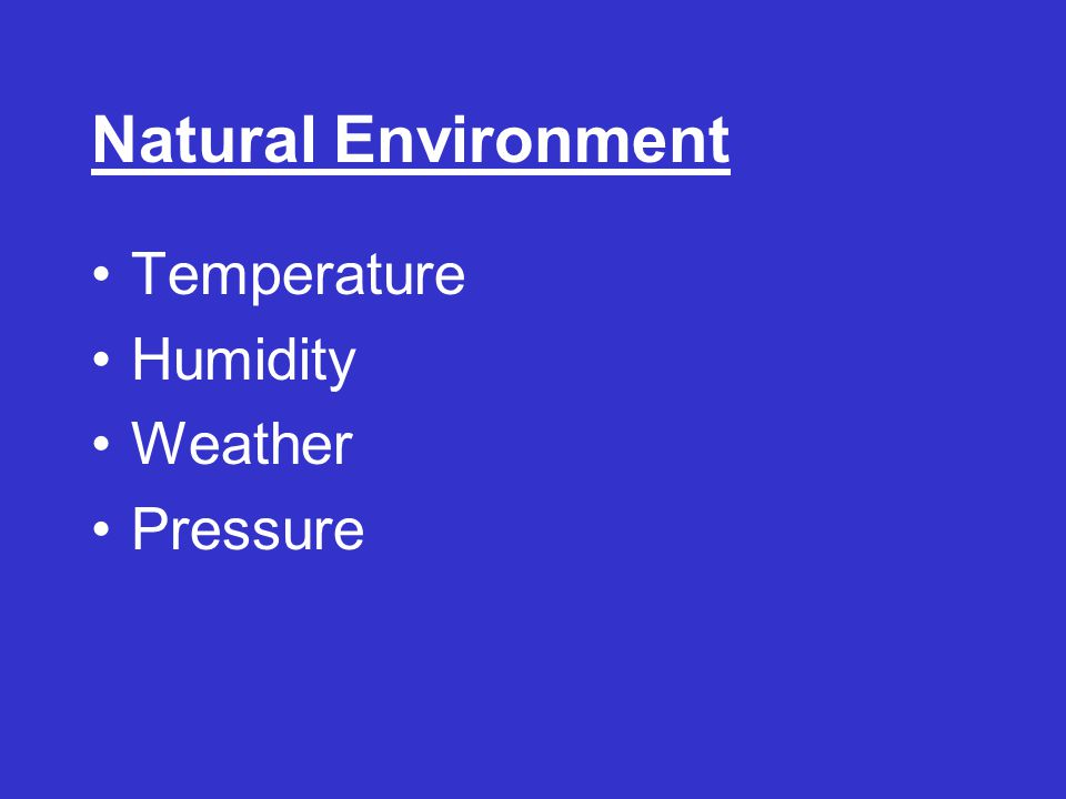 Natural Environment Temperature Humidity Weather Pressure