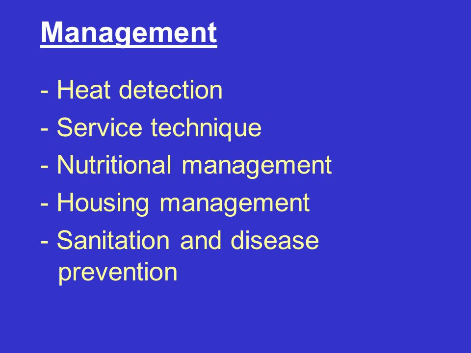 Management - Heat detection - Service technique