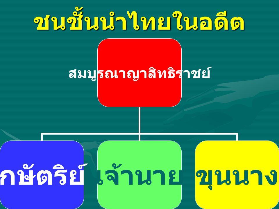 ชนชั้นนำไทยในอดีต