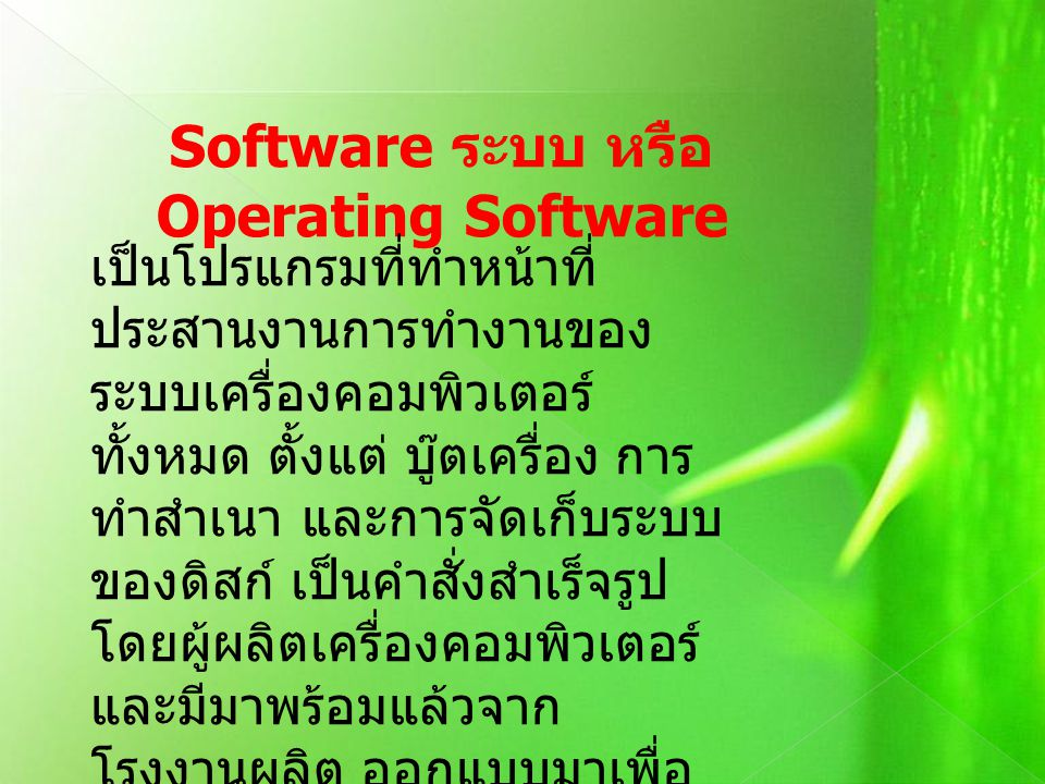 Software ระบบ หรือ Operating Software