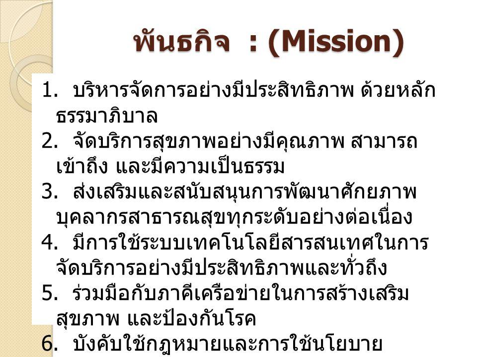 พันธกิจ : (Mission)