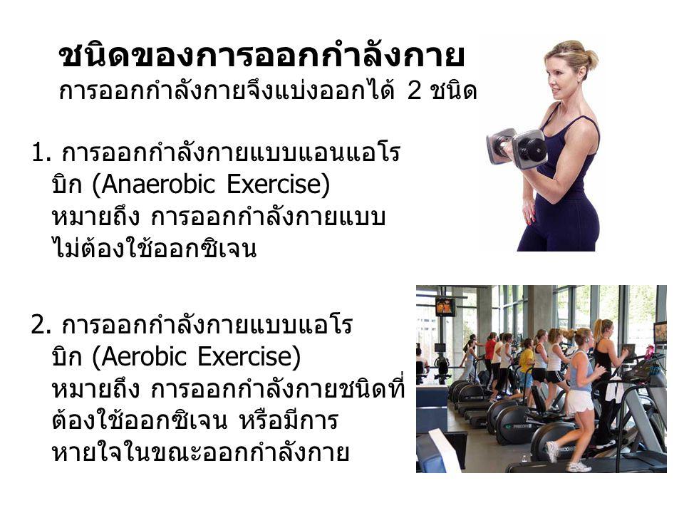 ชนิดของการออกกำลังกาย