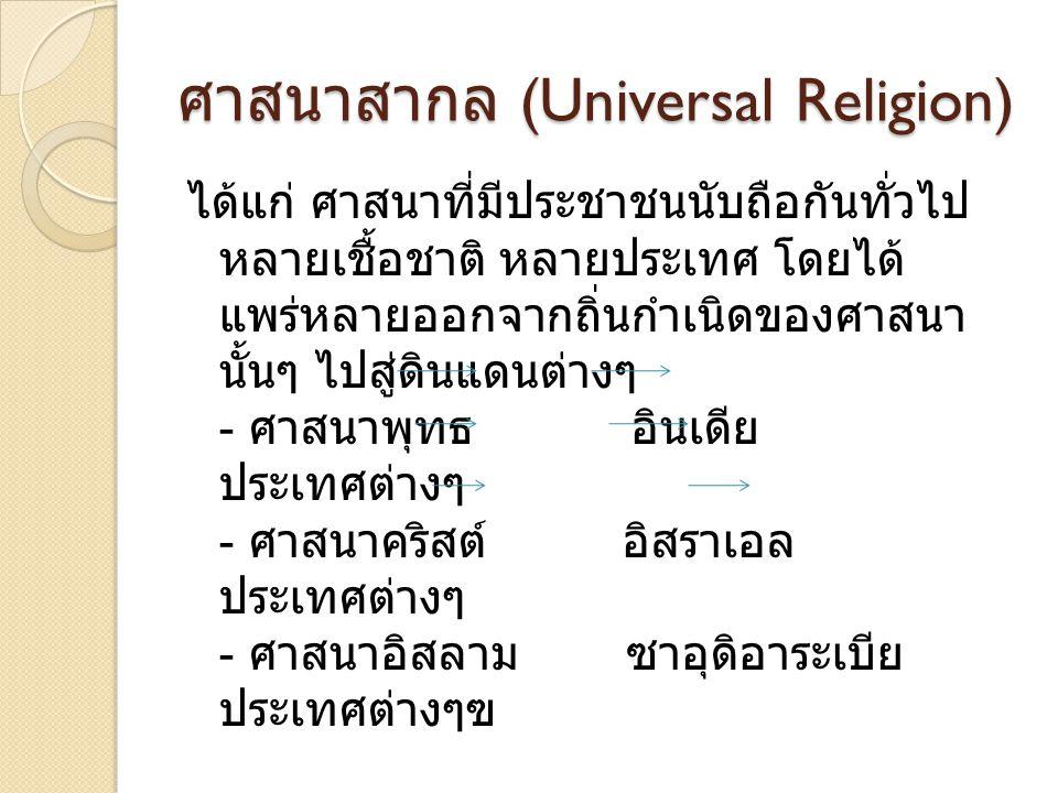ศาสนาสากล (Universal Religion)
