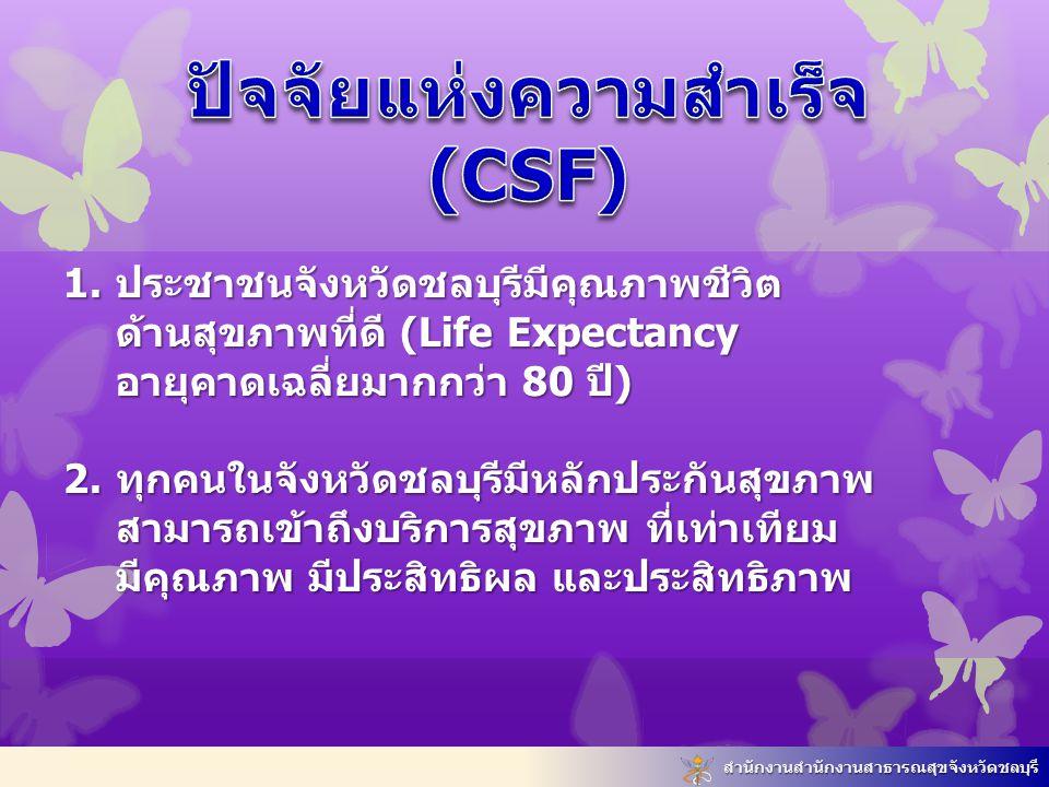 ปัจจัยแห่งความสำเร็จ (CSF)