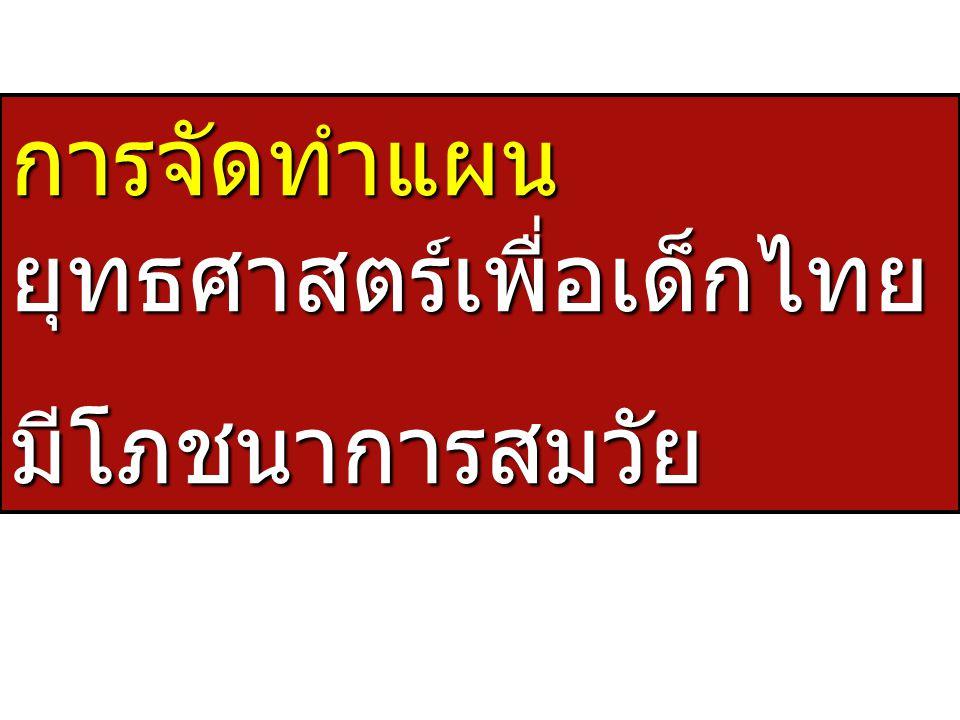 การจัดทำแผนยุทธศาสตร์เพื่อเด็กไทย
