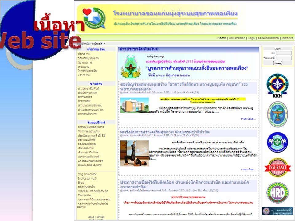 เนื้อหา Web site