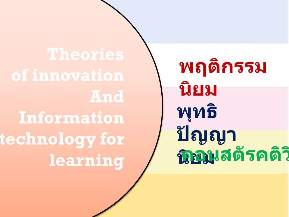 พฤติกรรมนิยม พุทธิปัญญานิยม คอนสตัรคติวิสต์ Theories of innovation And