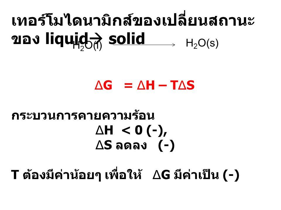 เทอร์โมไดนามิกส์ของเปลี่ยนสถานะของ liquid solid