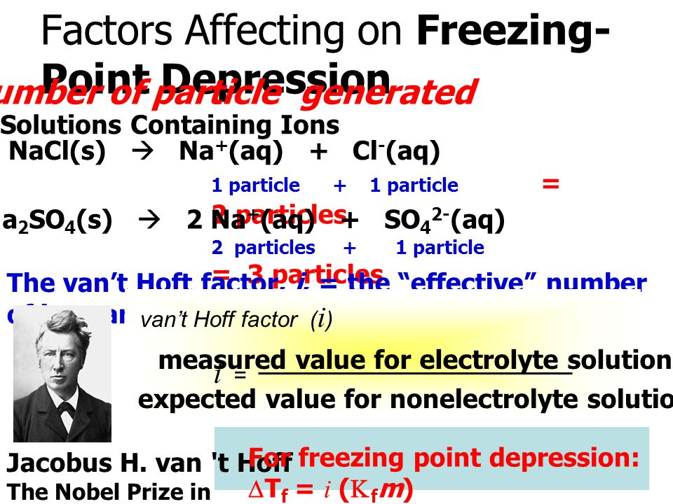Factors Affecting on Freezing-Point Depression