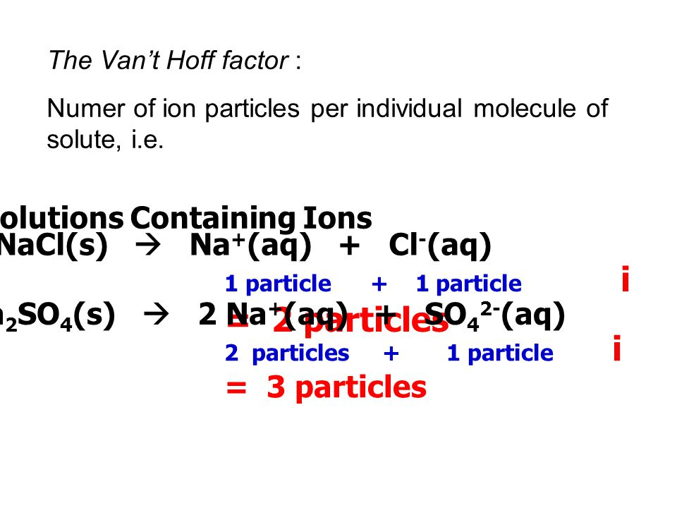 Solutions Containing Ions NaCl(s)  Na+(aq) + Cl-(aq)