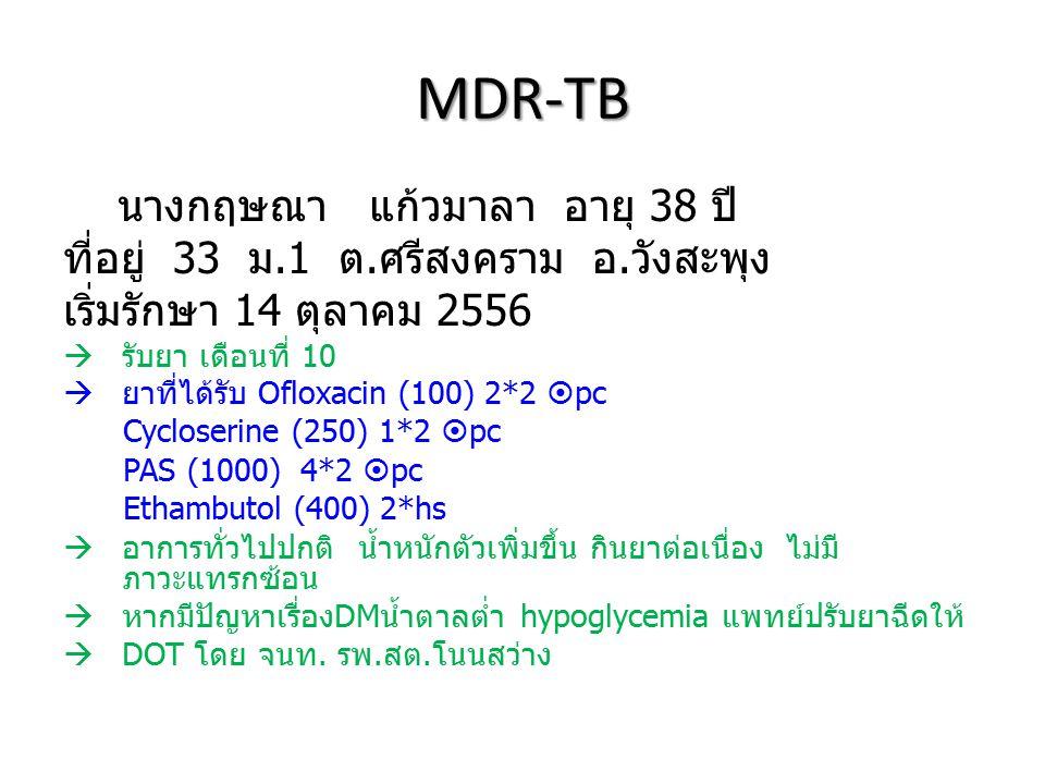 MDR-TB นางกฤษณา แก้วมาลา อายุ 38 ปี