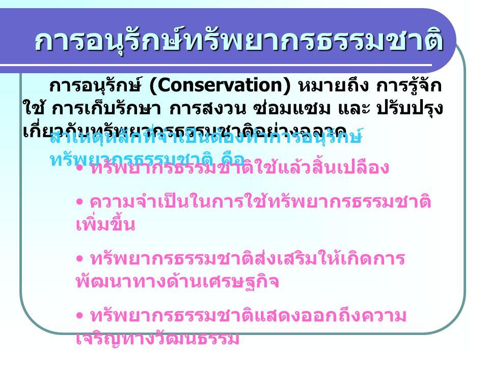 การอนุรักษ์ทรัพยากรธรรมชาติ