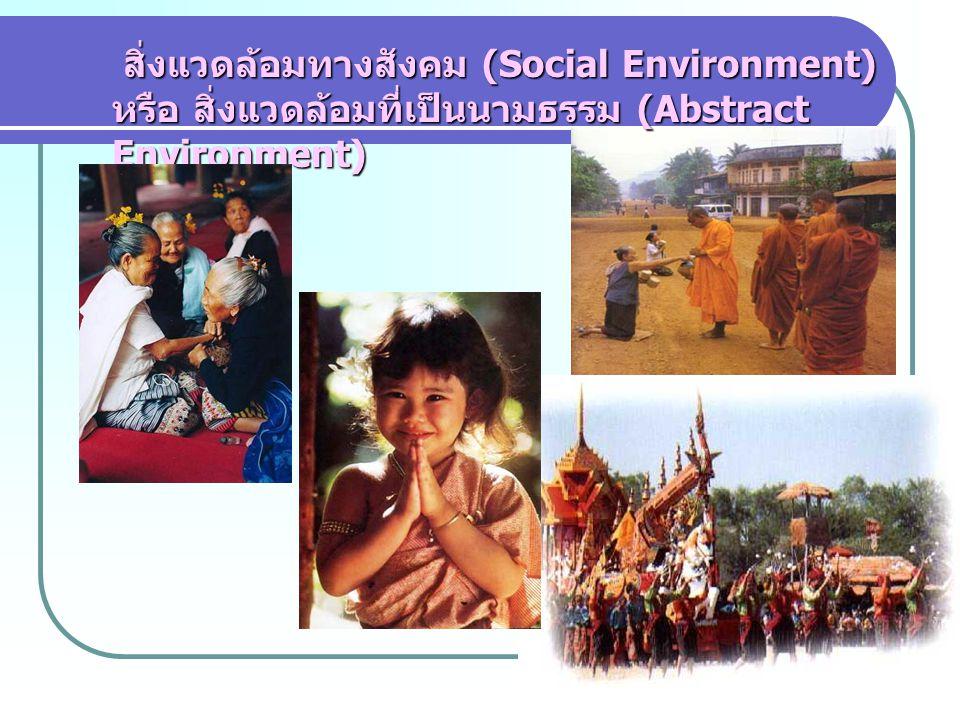 สิ่งแวดล้อมทางสังคม (Social Environment) หรือ สิ่งแวดล้อมที่เป็นนามธรรม (Abstract Environment)