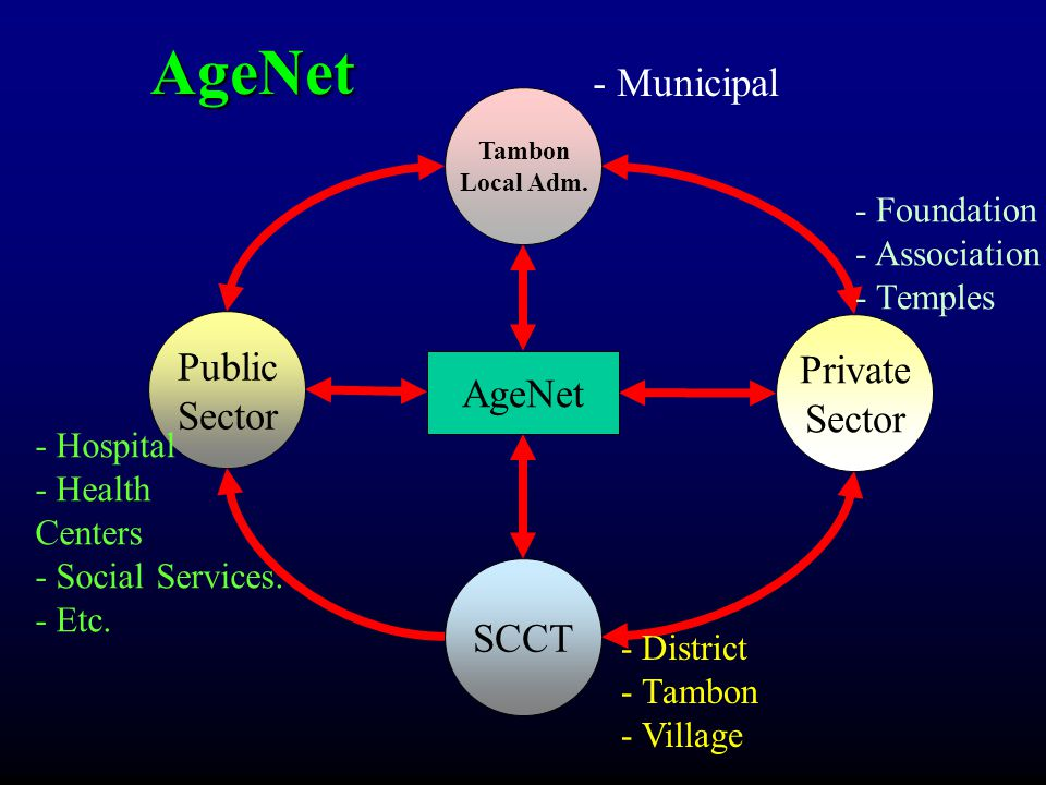 AgeNet - Municipal Public Private Sector Sector AgeNet SCCT