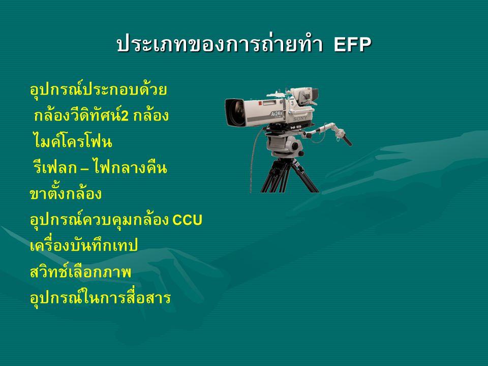 ประเภทของการถ่ายทำ EFP