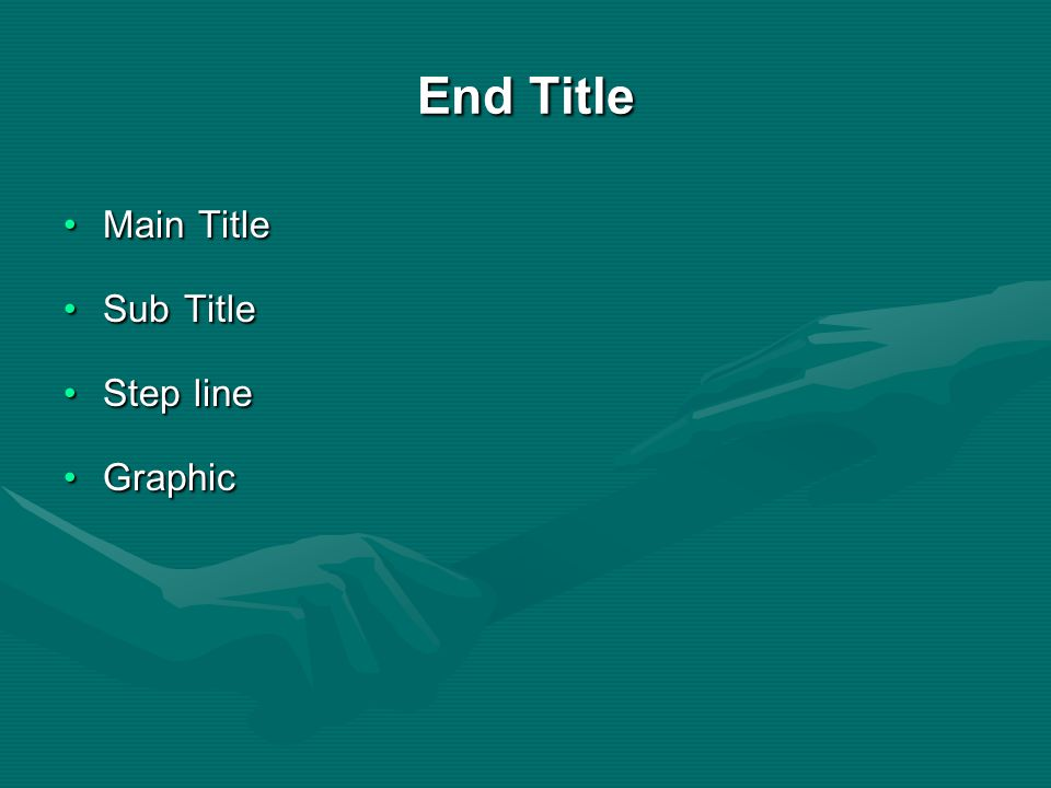 End Title Main Title Sub Title Step line Graphic