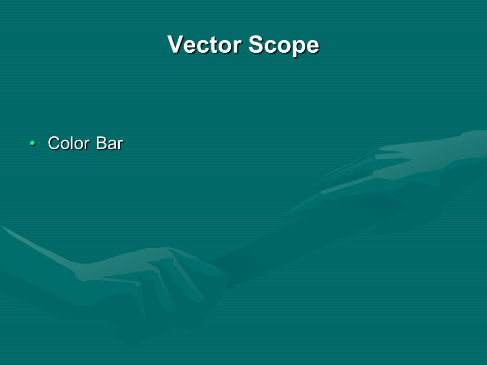 Vector Scope Color Bar