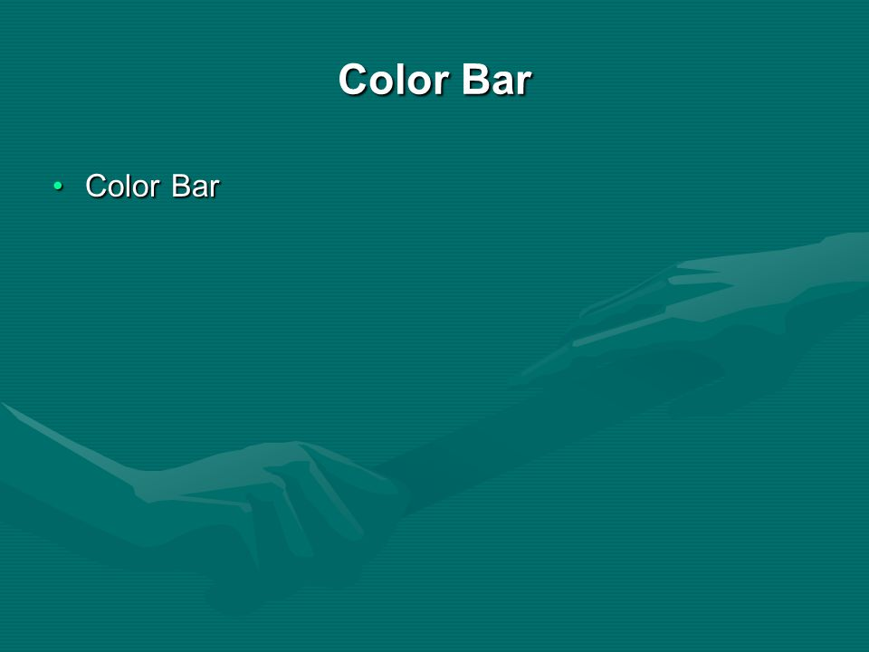 Color Bar Color Bar