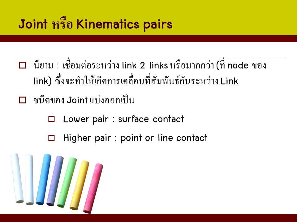 Joint หรือ Kinematics pairs