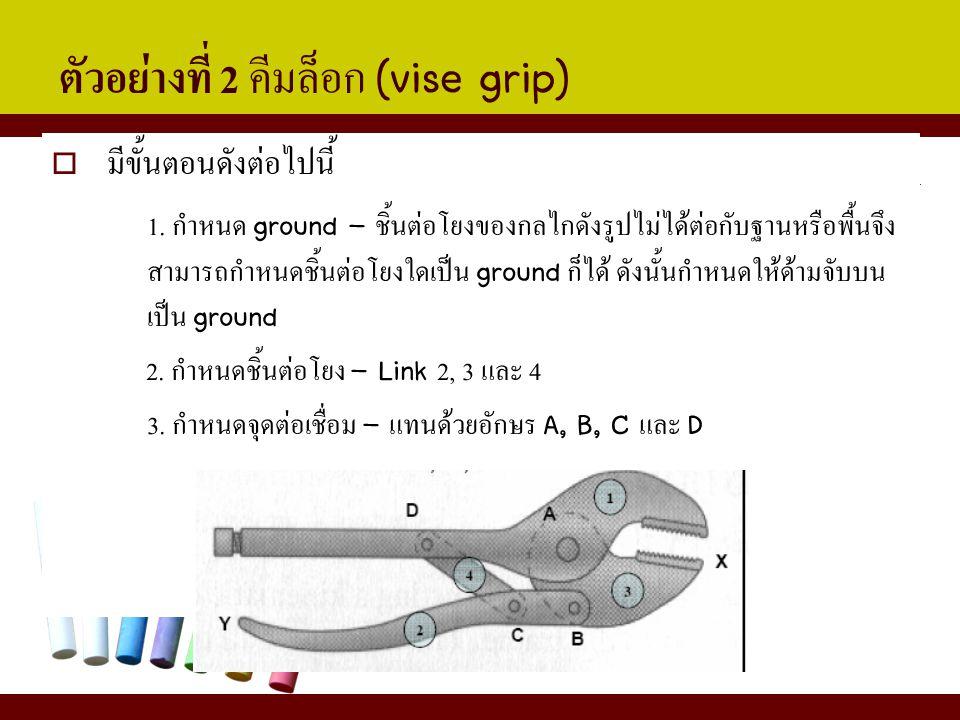 ตัวอย่างที่ 2 คีมล็อก (vise grip)