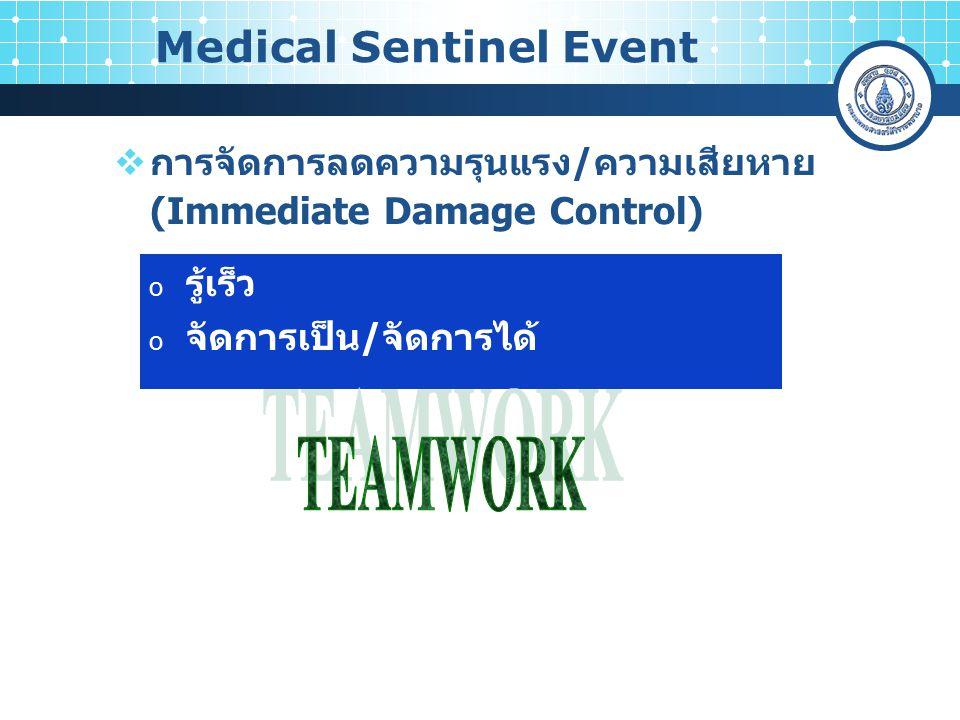 Medical Sentinel Event