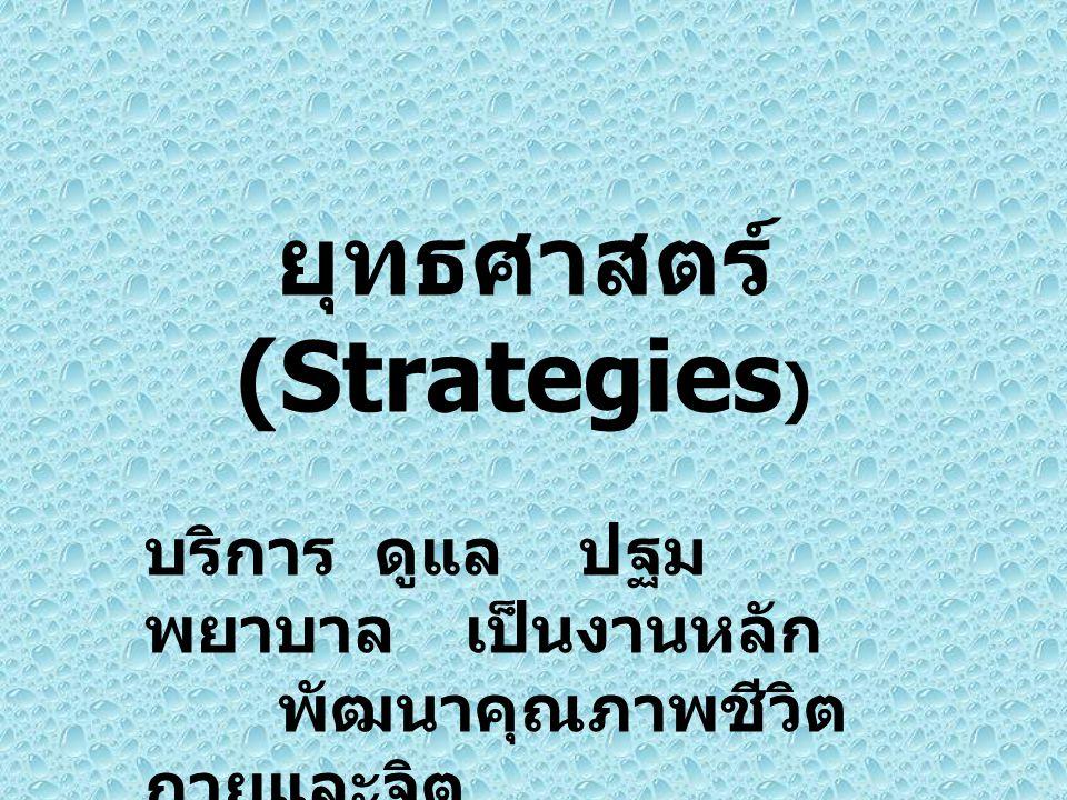 ยุทธศาสตร์ (Strategies)