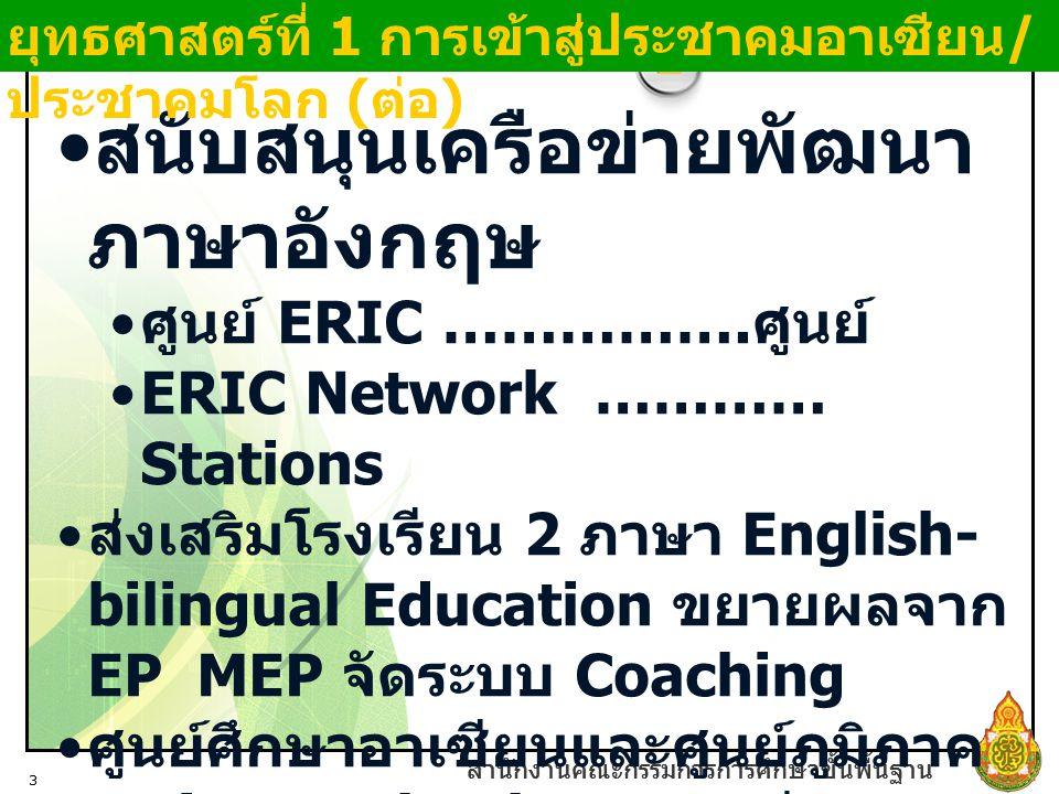 สนับสนุนเครือข่ายพัฒนาภาษาอังกฤษ
