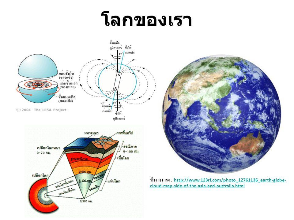 โลกของเรา ที่มาภาพ : http://www.123rf.com/photo_12761136_earth-globe-cloud-map-side-of-the-asia-and-australia.html.