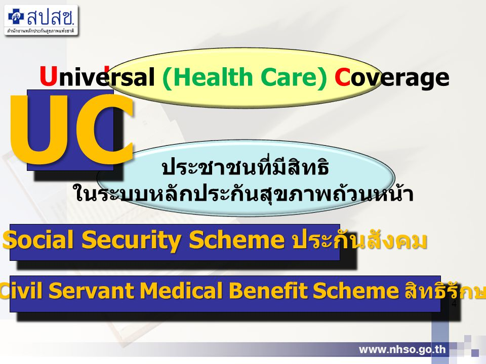UC Universal (Health Care) Coverage Universal Coverage
