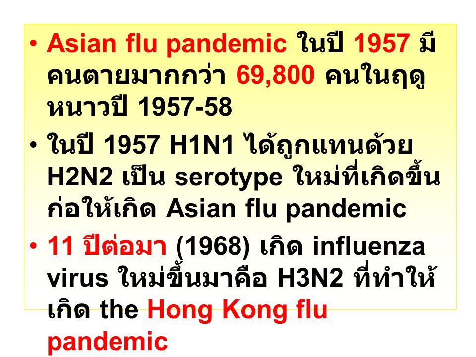 Asian flu pandemic ในปี 1957 มีคนตายมากกว่า 69,800 คนในฤดูหนาวปี 1957-58