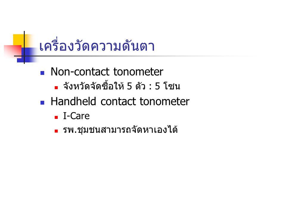 เครื่องวัดความดันตา Non-contact tonometer Handheld contact tonometer