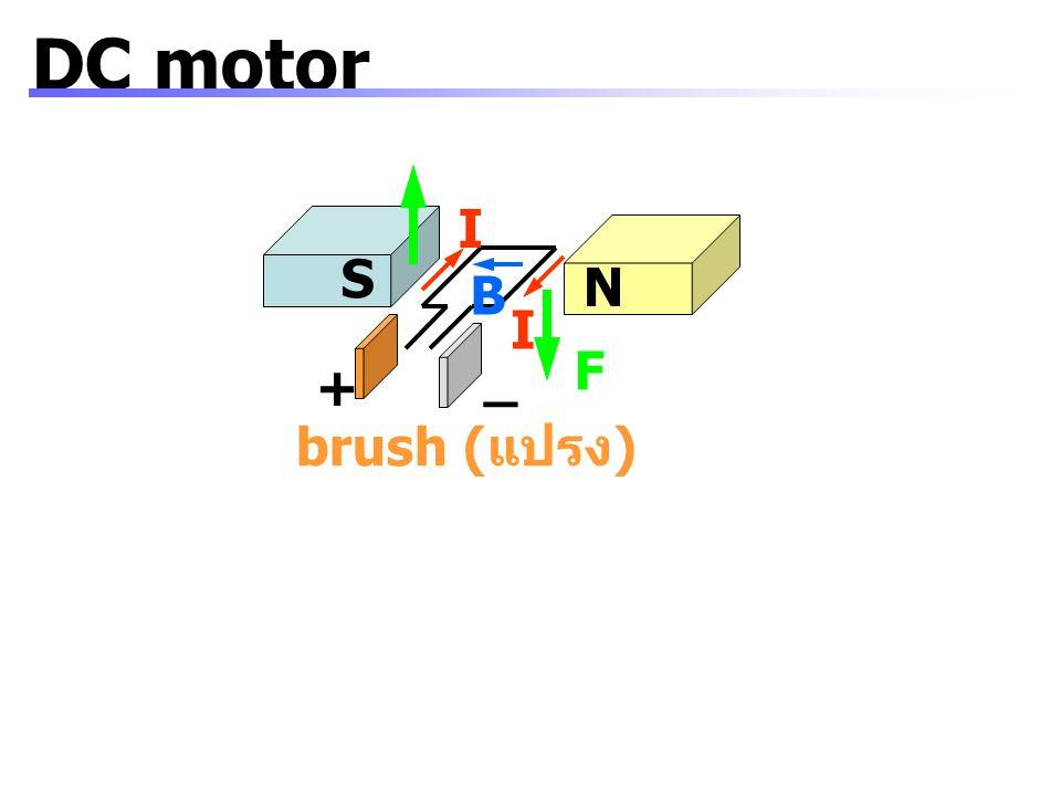 DC motor I S N B I F _ + brush (แปรง)