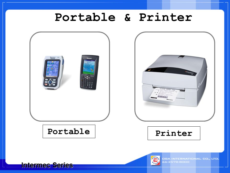 Portable & Printer Portable Printer Intermec Series