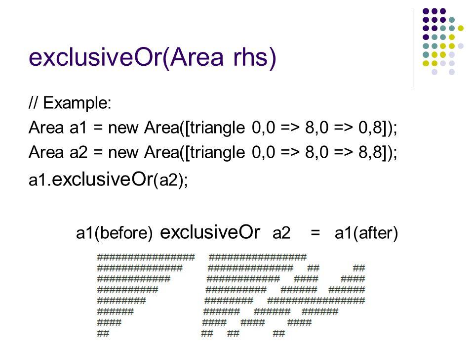 exclusiveOr(Area rhs)