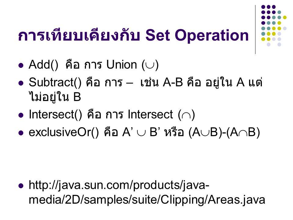 การเทียบเคียงกับ Set Operation