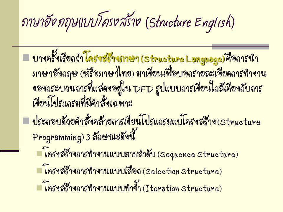 ภาษาอังกฤษแบบโครงสร้าง (Structure English)