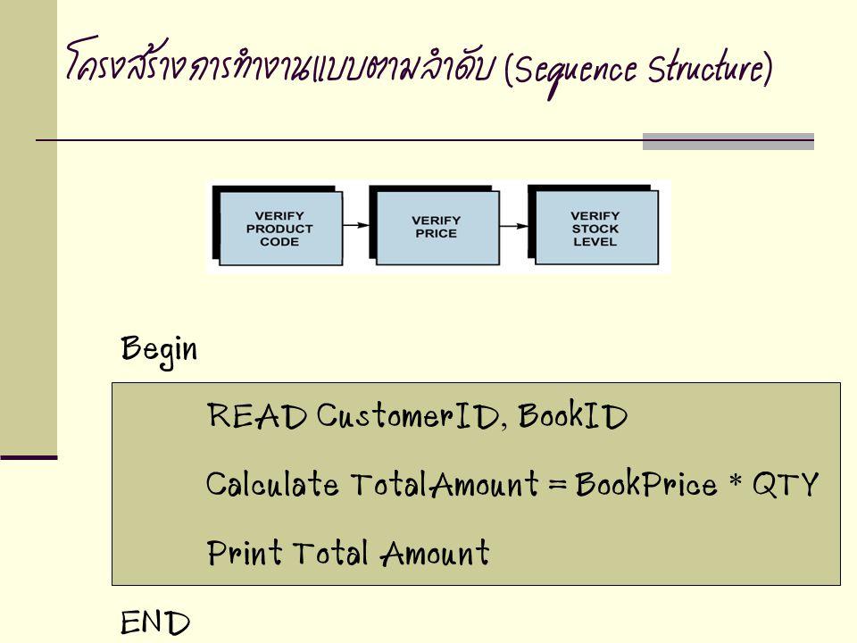 โครงสร้างการทำงานแบบตามลำดับ (Sequence Structure)
