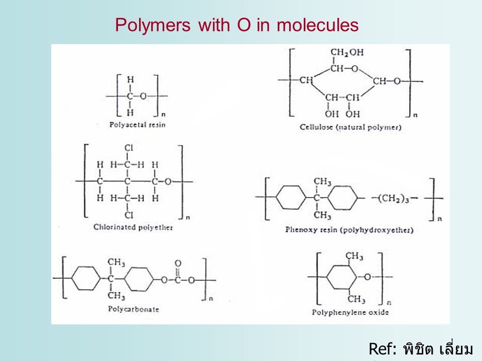 Polymers with O in molecules