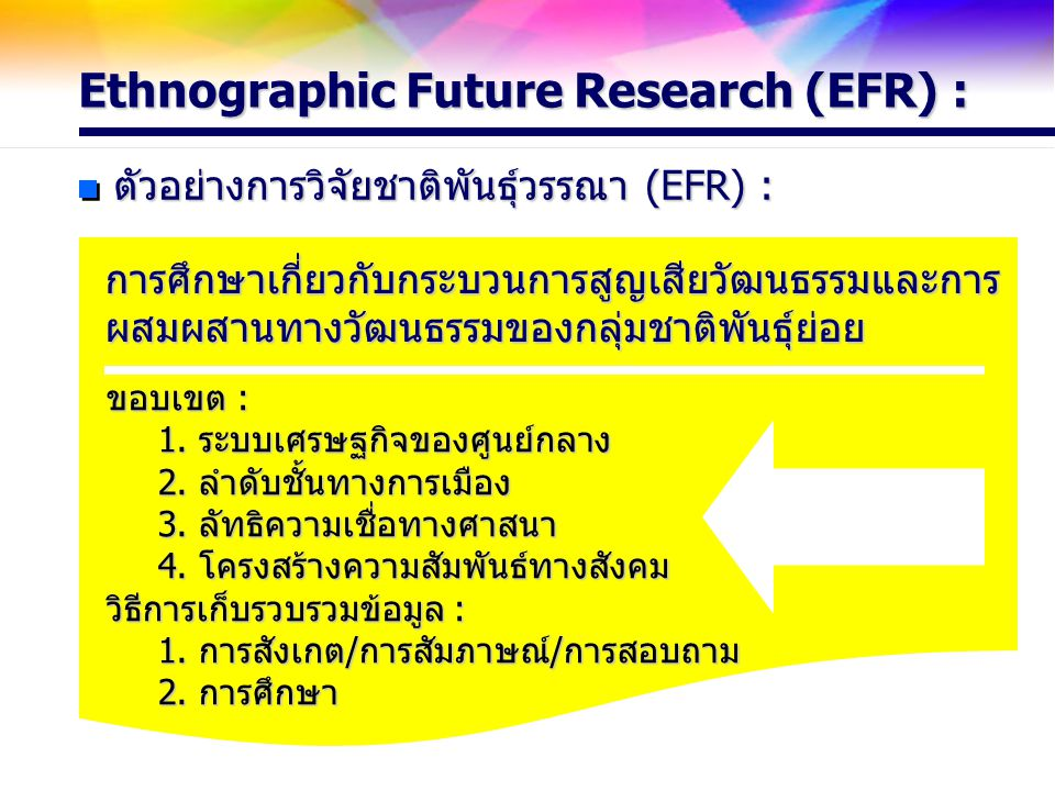 Ethnographic Future Research (EFR) :