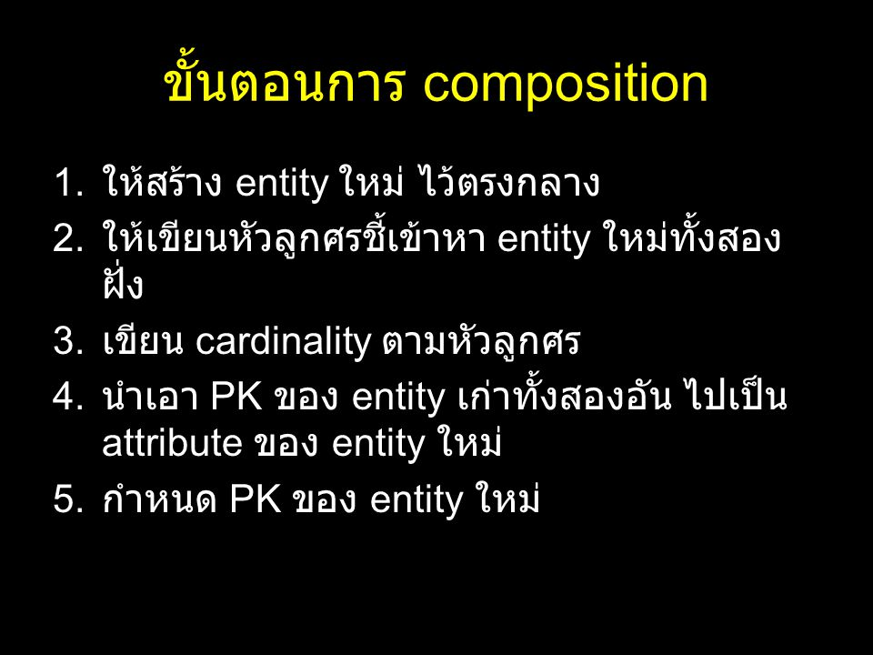 ขั้นตอนการ composition