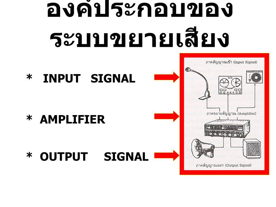 องค์ประกอบของระบบขยายเสียง