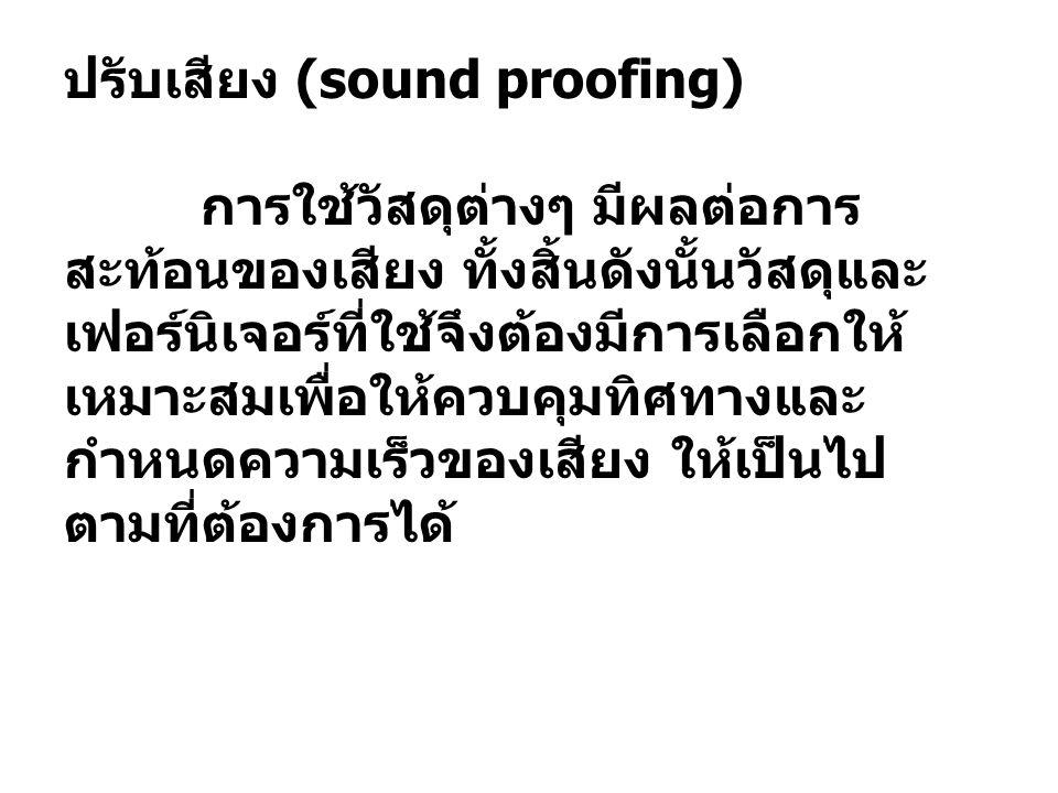ปรับเสียง (sound proofing)