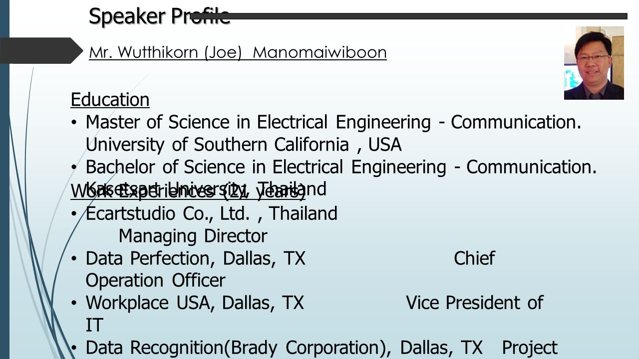 Speaker Profile Education