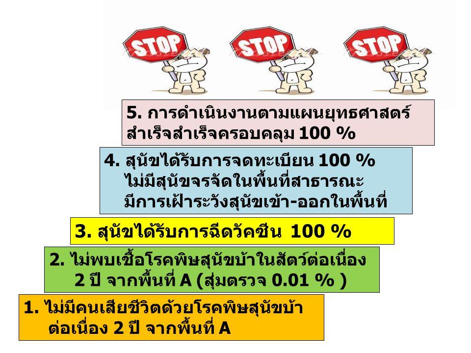 3. สุนัขได้รับการฉีดวัคซีน 100 %