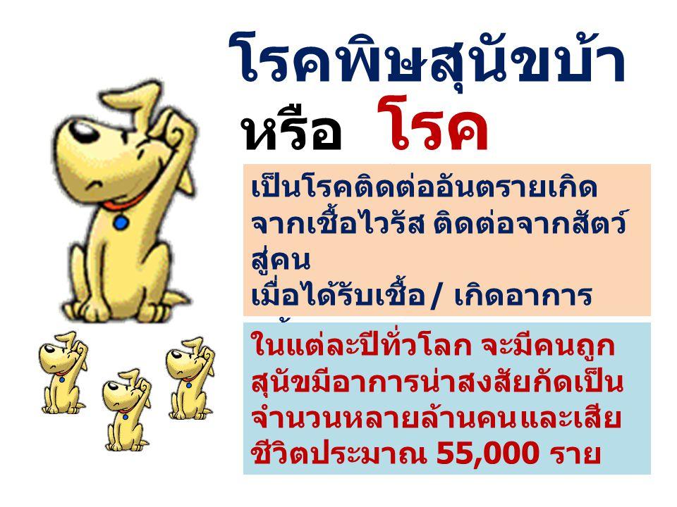 โรคพิษสุนัขบ้า หรือ โรคกลัวน้ำ