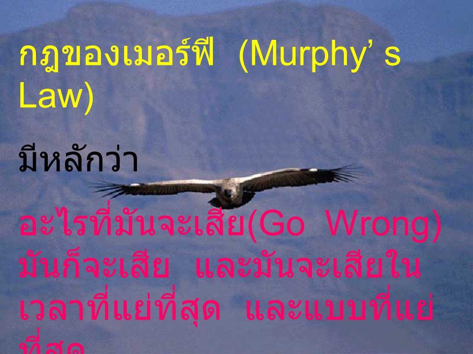 กฎของเมอร์ฟี (Murphy' s Law)