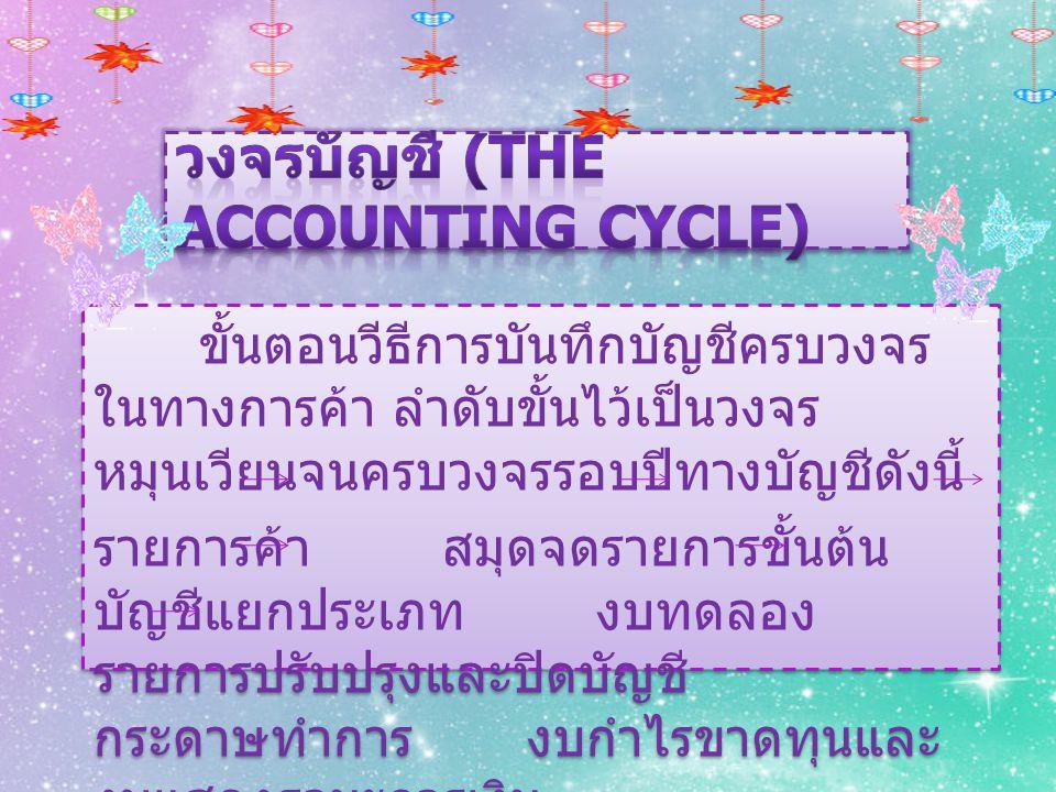 วงจรบัญชี (The Accounting Cycle)