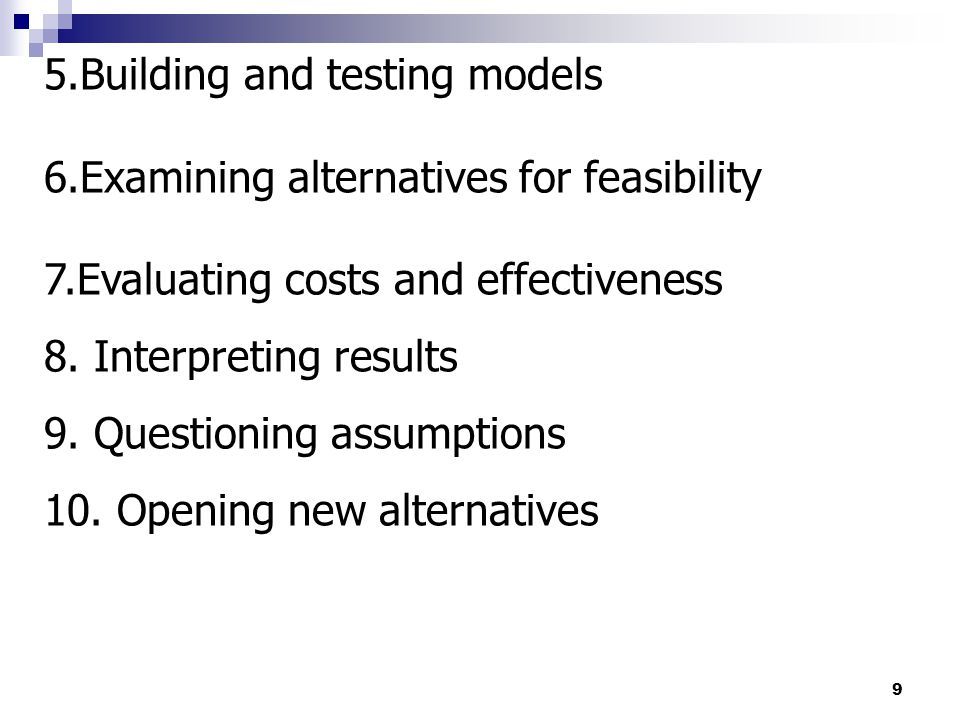 5.Building and testing models