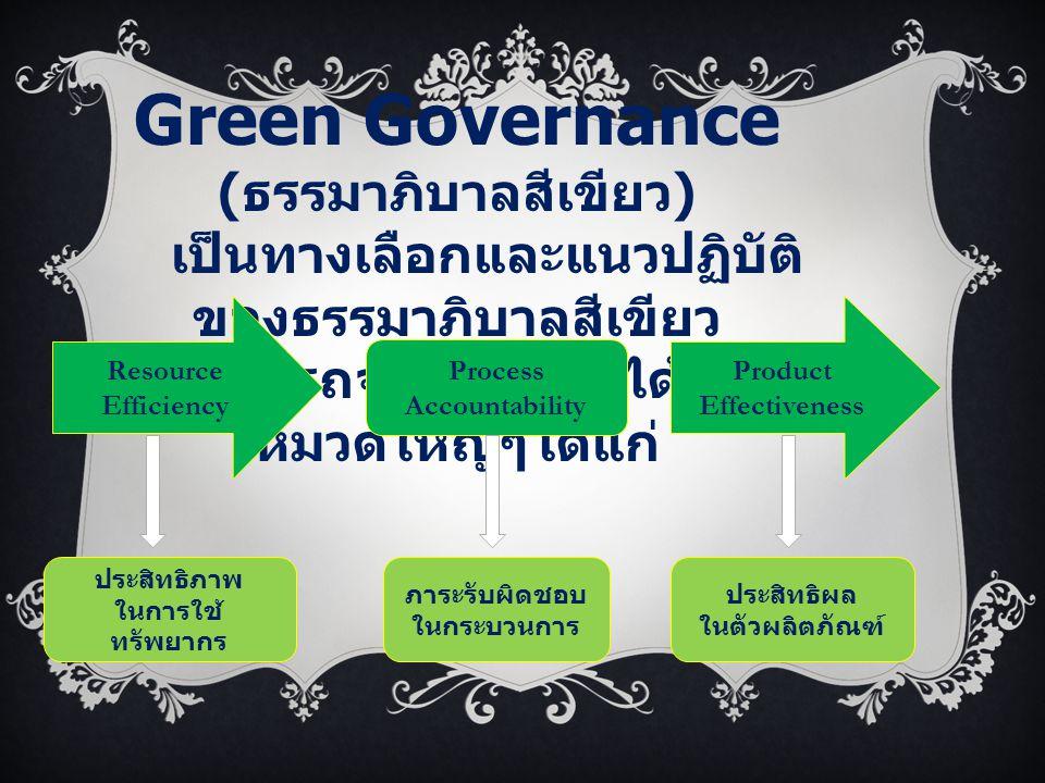 Green Governance (ธรรมาภิบาลสีเขียว)